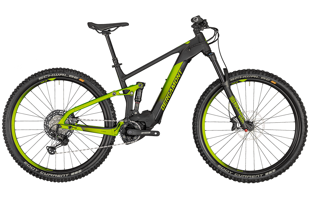 Bergamont E-Trailster Expert - black/lime green metallic (matt) - L