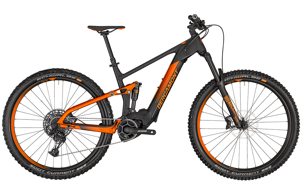 Bergamont E-Trailster Pro - black/dirty orange (matt) - M
